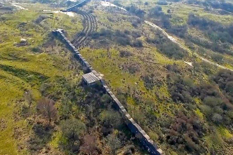 Berkheide muur drone luchtfoto kavel 3 7a