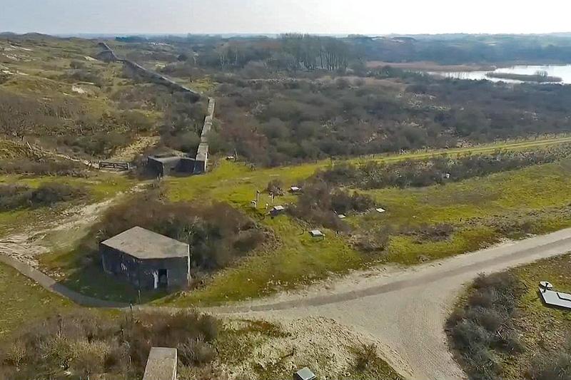Berkheude muur drone luchtfoto kavel 3 7a