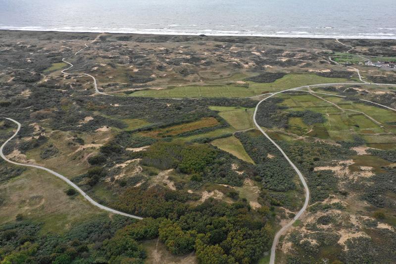 Berkheide drone luchtfoto kavel 12a Dorendel Vrieze Wei