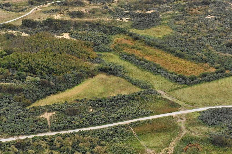 Berkheide Dorendel drone luchtfoto kavel 12a