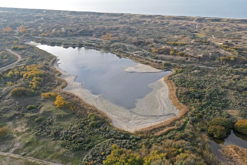 Berkheide drone luchtfoto kavel 7 Grote Meer