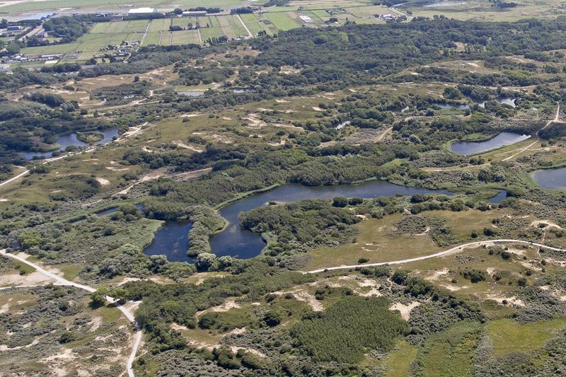 Berkheide drone luchtfoto Hoefijzermeer kavel 8