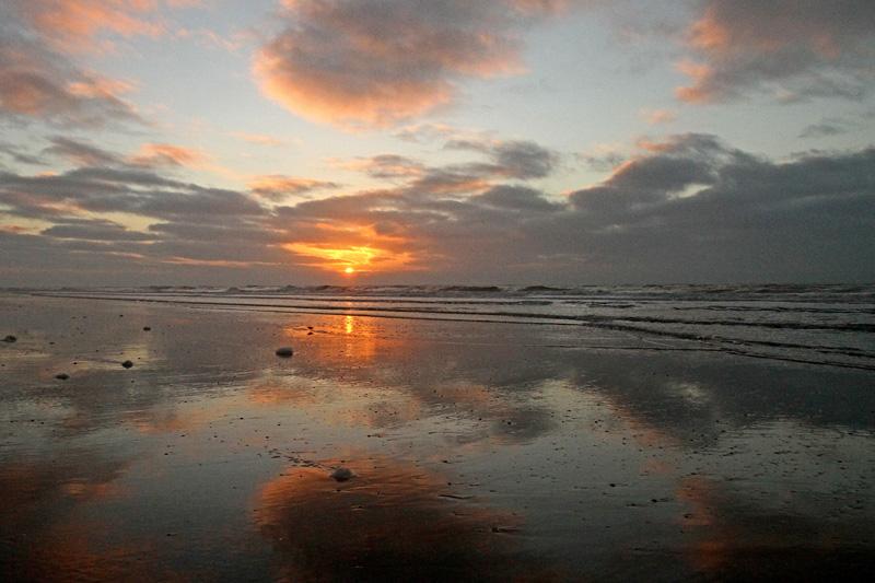 Berkheide strand zonsondergang