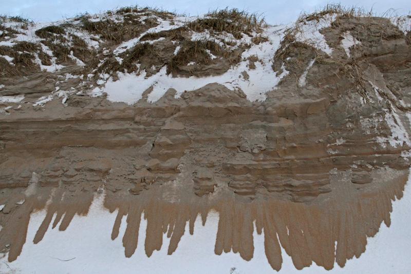 Berkheide strand erosie zeereep storm sneeuw