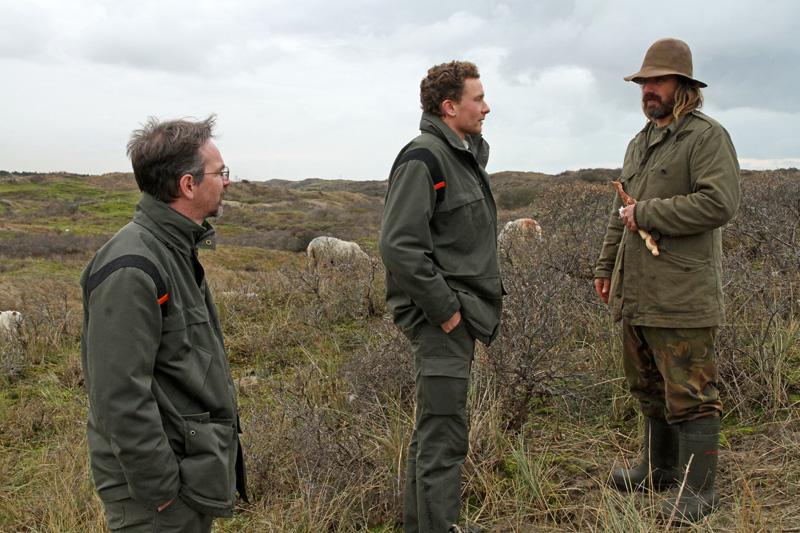 Schaapherder Thomas Mey Staatsbosbeheerders Jonas Pronk Hans Backx Berkheide schapen schaapskudde