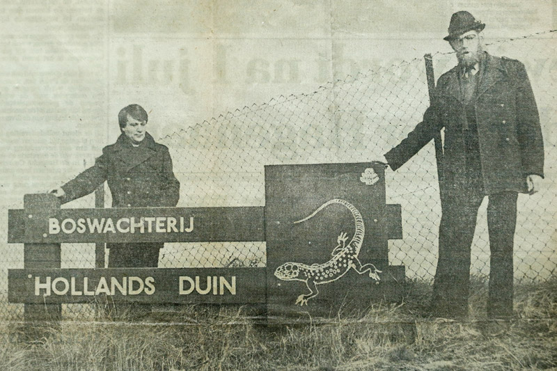 Staatsbosbeheer Peter van Deursen Frans van den Berg Wassenaarse Slag toegangsbord
