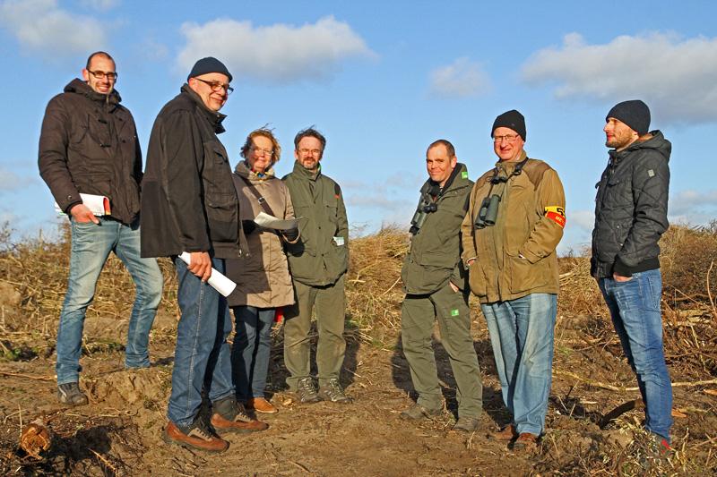 Veldbezoek zeereepproject Berkheide Staatsbosbeheer