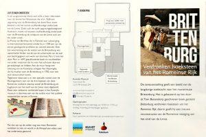 folder expositie Brittenburg Katwijk Museum Limes Romeinen castellum