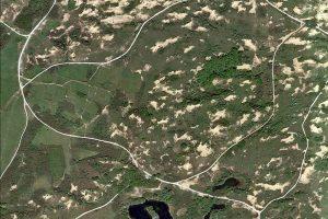 berkheide Hanengekraai verstuivingen Google Earth 2018