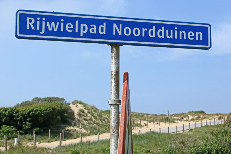 bord fietspad Katwijk Coepelduynen