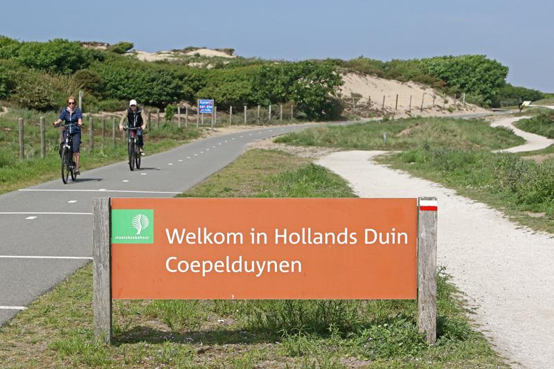 bord Staatsbosbeheer fietspad Coepelduynen Katwijk